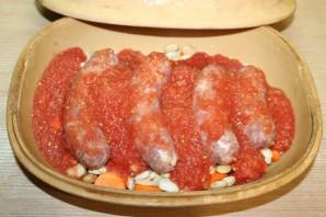 Фасоль с колбасками - фото шаг 9