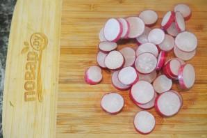 Салат из цуккини, фенхеля и редиса - фото шаг 3