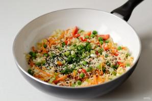 Вок рисом и овощами - фото шаг 6
