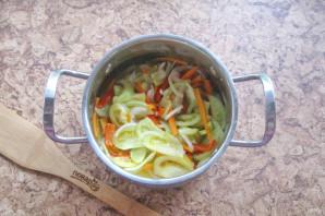 Дунайский салат из зеленых помидоров на зиму - фото шаг 9