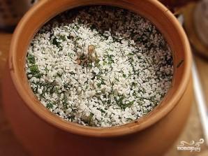 Рис с грибами в горшочках - фото шаг 6