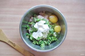 Куриные оладьи с брокколи - фото шаг 6