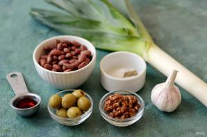 Салат с фасолью и луком-пореем - фото шаг 1