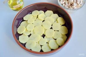 Картофельная запеканка с грибами и чесноком - фото шаг 4