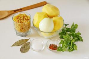 Картофельный суп с макаронами - фото шаг 1