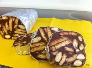 Шоколадные колбаски из печенья - фото шаг 8