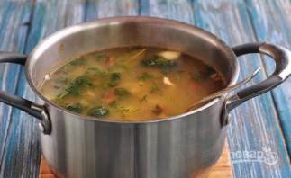 Суп с опятами замороженными - фото шаг 6