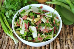 Салат с редиской и колбасой - фото шаг 7