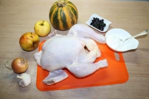 Курица, запечённая с тыквой - фото шаг 1