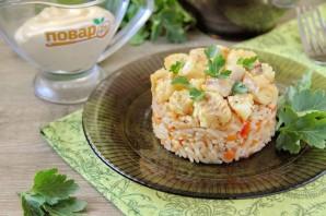 Минтай с рисом в духовке - фото шаг 12