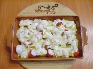 Овощи в духовке под соусом - фото шаг 5