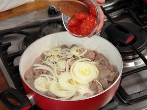 Баранина в соевом соусе с помидорами - фото шаг 4