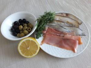 Рыбная нарезка - фото шаг 1