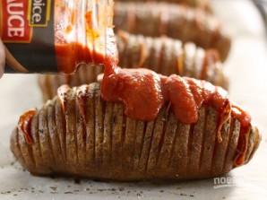 Картошка-гармошка с пепперони - фото шаг 4