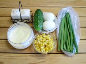 Салат с огурцом и кукурузой - фото шаг 1
