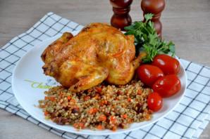 Курица фаршированная перловкой в духовке