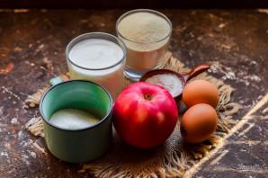 Манник с яблоками без муки - фото шаг 1