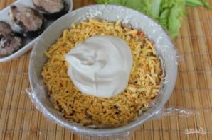 Салат с консервированной рыбой и картошкой - фото шаг 6