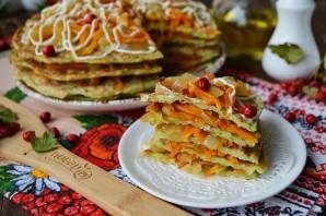 Торт из кабачков с морковью и луком - фото шаг 13