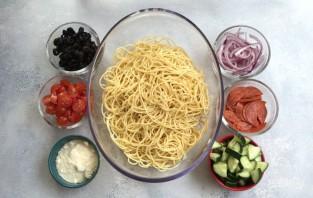 Салат из спагетти - фото шаг 1
