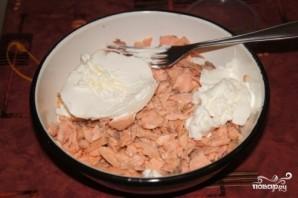 Рыбный пирог с творожным сыром - фото шаг 4