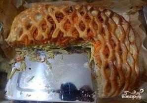 Слоеный пирог с красной рыбой - фото шаг 6