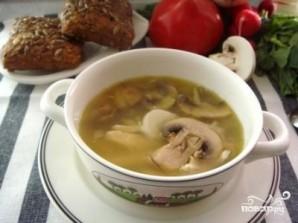 Куриный суп с грибами и луком пореем - фото шаг 4