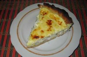 Открытый пирог с курицей - фото шаг 9