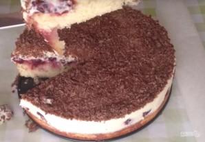 Бисквитный торт с вишневой начинкой - фото шаг 9