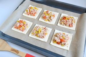 Горячие бутерброды из слоеного теста - фото шаг 7