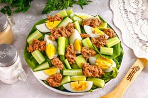Низкокалорийный салат с тунцом - фото шаг 5