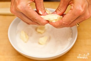 Песочный пирог с персиками - фото шаг 9