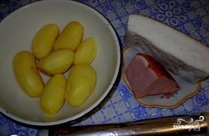 Картофель с беконом в фольге - фото шаг 1