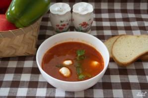 Томатный суп с моцареллой - фото шаг 8