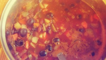 Вегетарианская солянка - фото шаг 7