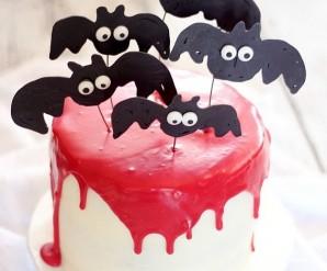 """Торт """"Вампир"""" на Хэллоуин - фото шаг 7"""