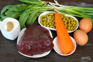 Салат с печенью, морковью и горошком - фото шаг 1
