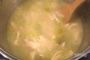 Суп с курицей, рисом и луком-порей - фото шаг 6