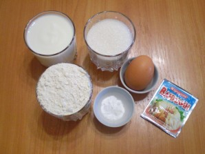 Вкусное тесто на кефире - фото шаг 1