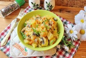 Капуста с грибами и картошкой - фото шаг 8