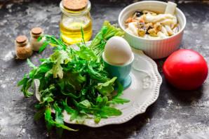 Салат с морским коктейлем и рукколой - фото шаг 1