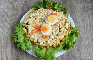 "Салат ""Петушок"" с картошкой фри - фото шаг 10"