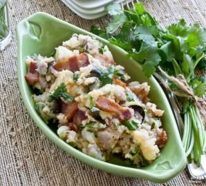 Теплый салат с беконом - фото шаг 11