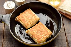 Конвертики из лаваша с мясом и сыром - фото шаг 9
