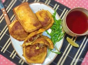 Лентяйские пирожки из хлеба - фото шаг 8