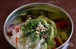 Салат с овощами - фото шаг 5