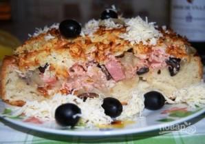 Пицца из пирожкового теста - фото шаг 9