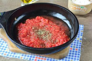 Лепешка с томатом и базиликом - фото шаг 7