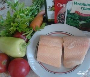 Голец с овощами - фото шаг 1