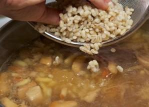 Грибной суп из замороженных грибов   - фото шаг 7